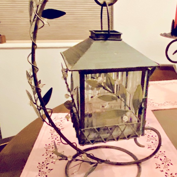 Party light candle lantern with stand